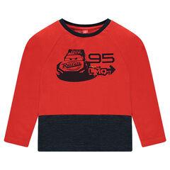 Long-sleeved, two-tone, jersey tee-shirt with Disney/Pixar® Cars print