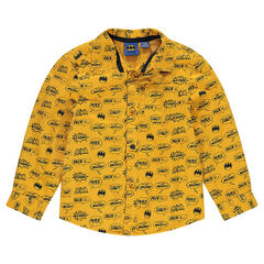 Jersey-lined overshirt with an allover ©Warner Batman print