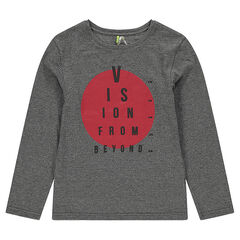 Junior - Long-sleeved jersey tee-shirt with printed circle