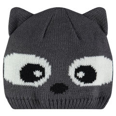 Knit cap with ears
