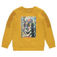 Junior - Fleece sweatshirt with pleats and print