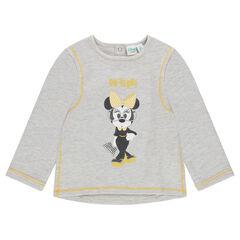Heathered fleece sweatshirt with Disney Minnie Mouse print