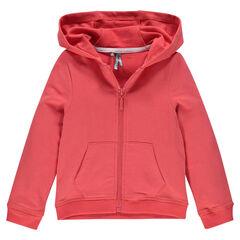 Junior - Zipped, fleece hooded jacket.