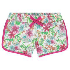 Junior - Shorts with tropical print