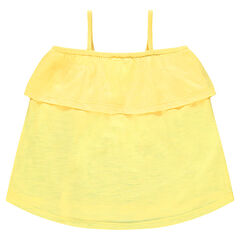 Junior - Bare-shouldered tank top with frill