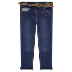 7/8 slim jeans with a removable belt