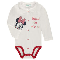 Jersey bodysuit with Peter Pan collar and Disney Minnie Mouse print