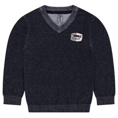 Junior - Pull en tricot avec badge patché