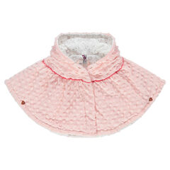 Sherpa cape with 3D polka dots and jersey lining