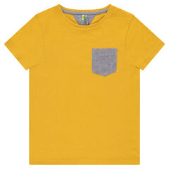 Junior - Short-sleeved jersey tee-shirt with chevron pocket