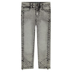 Snow wash-effect regular fit jeans