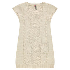 Junior - Short-sleeved knit dress