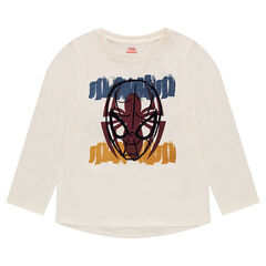 Long-sleeved tee-shirt with ©Marvel Spiderman print