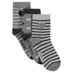 Set of 3 pairs of printed socks
