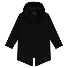 Junior - Long fleece hooded jacket