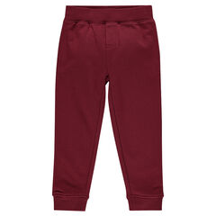 Plain-colored fleece jogging pants