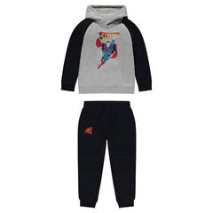 Two-tone fleece sweatsuit with ©Marvel Superman print