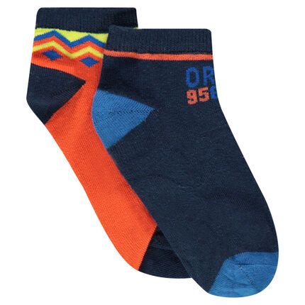 Set of 2 pairs of assorted socks with motifs