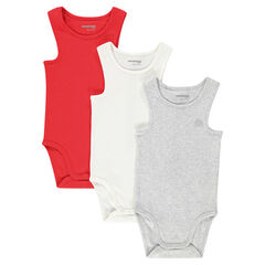 Set of 3 tank top-style bodysuits