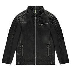 Junior - Imitation leather biker-style jacket