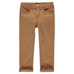 Plain-colored twill pants