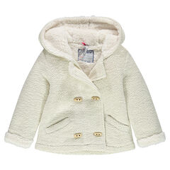 Fleece jacket with sherpa lining