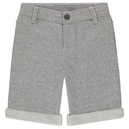 Bermuda shorts in light fleece