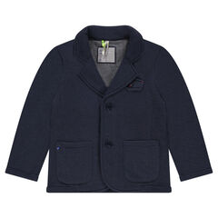 Pique fleece blazer with pockets