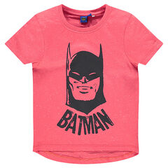 Short-sleeved, Nepalese aspect tee-shirt with BATMAN print