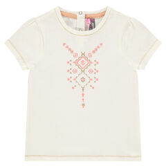 Short-sleeved tee-shirt featuring sparkly print