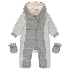 Snowsuit with sherpa lining and hood