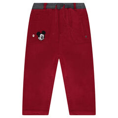Twill pants with Disney Mickey Mouse badge