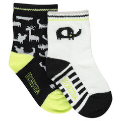 Set of 2 pairs of assorted socks with animal motifs