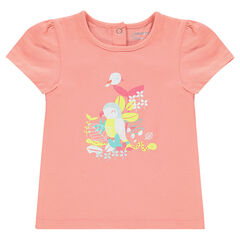 Short-sleeved tee-shirt with decorative print