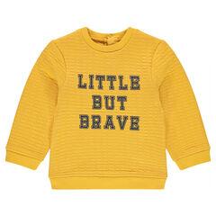 Fleece sweatshirt with printed message