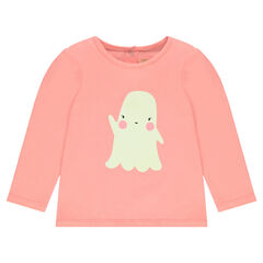 Special halloween tee-shirt with glow-in-the-dark ghost print