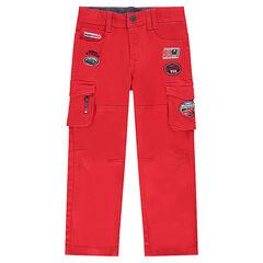 Twill pants with pockets and Disney/Pixar® Cars badges