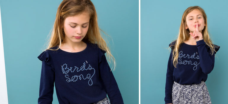 themes clothing girls birds song