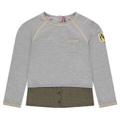 Junior - 2-in-1 effect bi-material sweatshirt