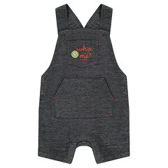 Short cotton overalls with a twill ©Smiley badge