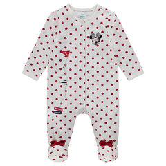 Disney Minnie long sleeve jersey sleeper with all-over polka dots