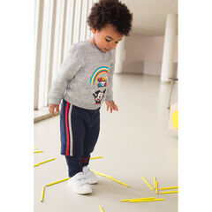 Fleece sweatsuit with ©Disney Mickey Mouse print and 2-in-1 effect Bermudas