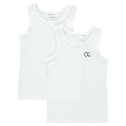 Junior - Set of 2 cotton tank tops with printed logo