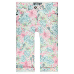 Junior - Printed, twill 3/4 pants