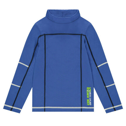 Technical ski thin sweater in polyester with printed messages