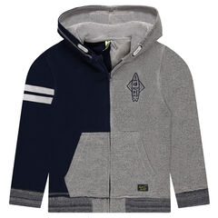Junior - Zip Hoodie in Two-Tone Fleece