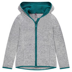 Junior - Microfleece Lined Knit Zip Through Vest