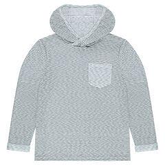 Lightweight fleece hoodie with pocket