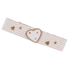Printed elastic headband with bow
