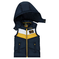 Sleeveless jacket with detachable hood